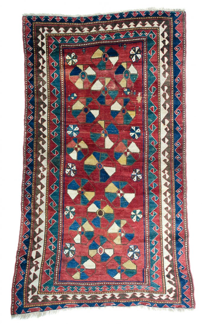 Borjalu Kazak, published Schuermann, Caucasian Rugs 1990, plate 9 - Sept 16, 2014 - Austria Auction Company - Caucasus 18с