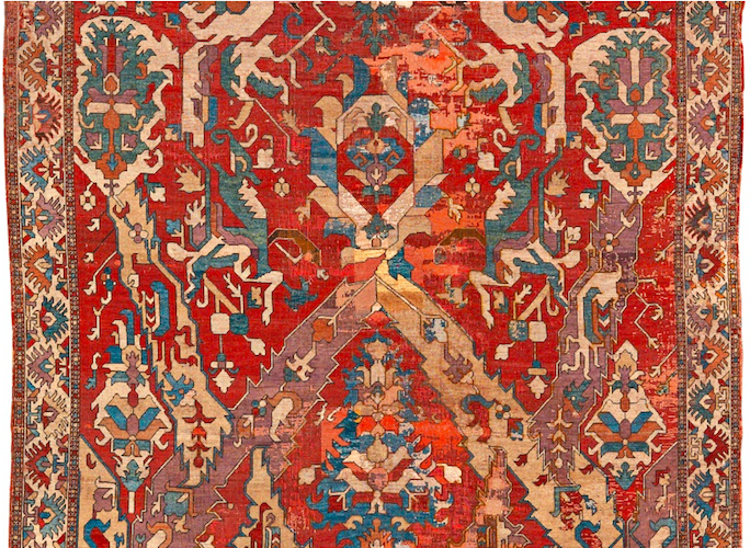 Sotheby's Oct 22 2014 NYC auction 18c Dragon carpet - Robert Gill Detail