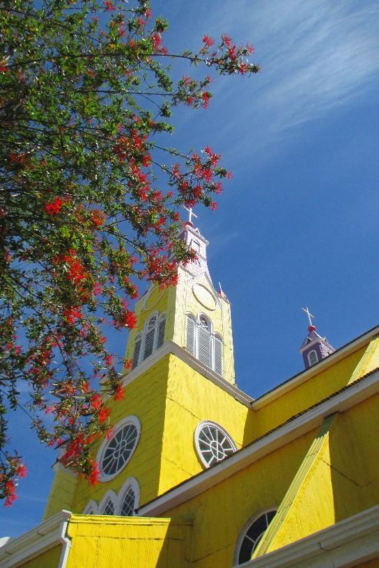 Деревянная церковь Сан Франциско на острове Чилоэ