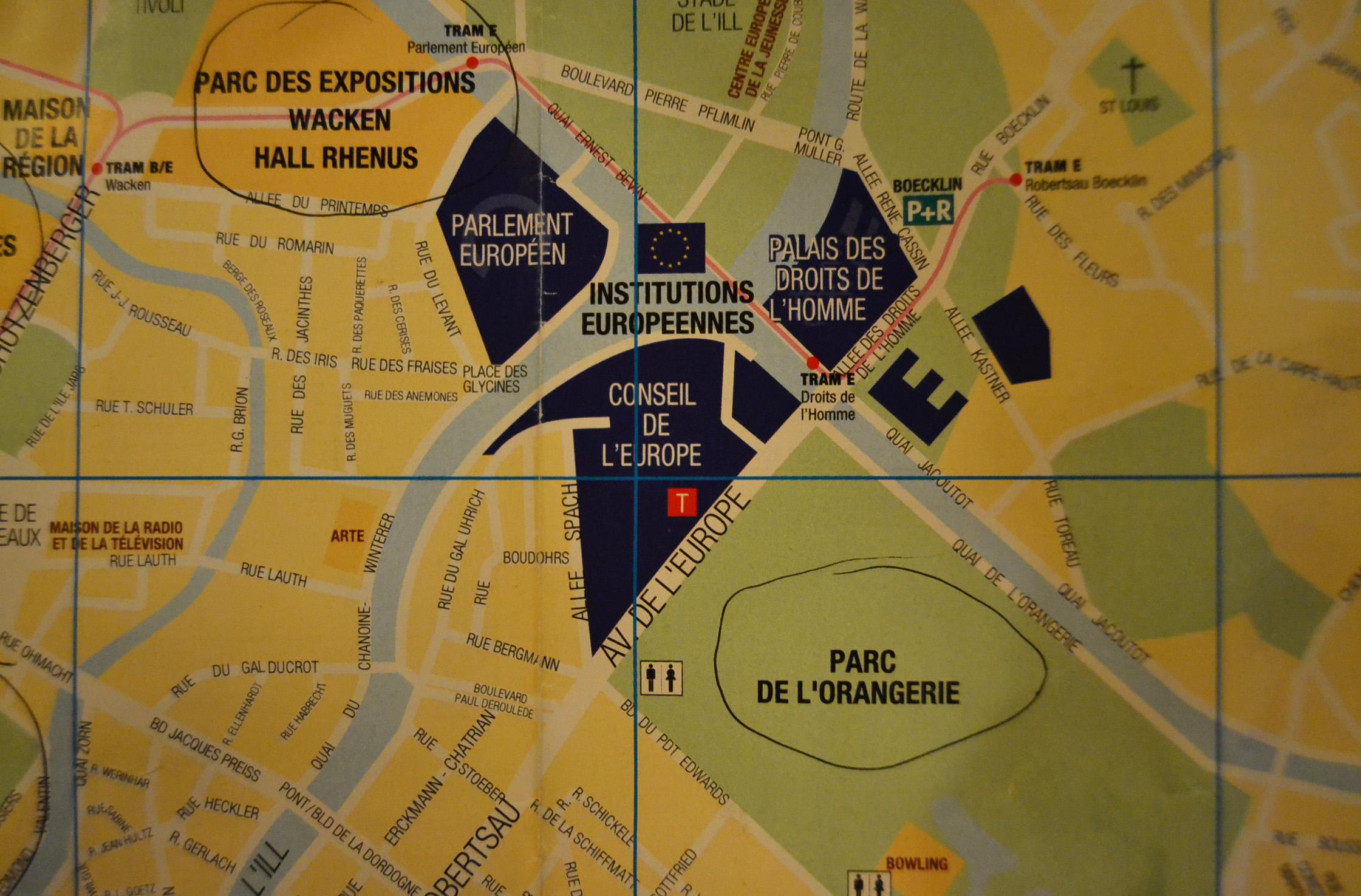 Евроучреждения карта