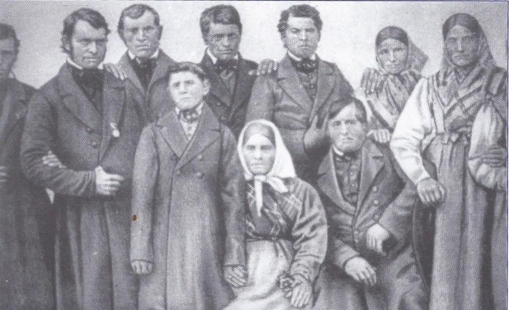 Самая старая фотография еленендорфцев Семья Гуммель  1863 г